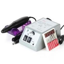 Electric Nail Drill Manicure Set File Grey Purple Nail Pen Machine Set Kit With EU Plug 110- 220V