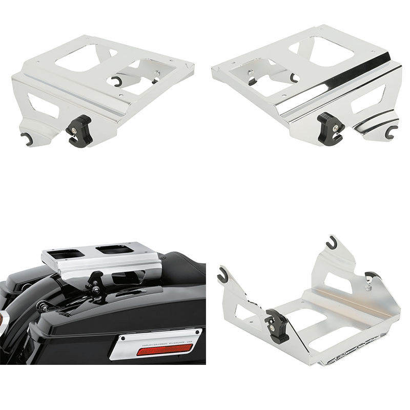 Knowledgeable Motorcycle Detachable Solo Trunk Mount Rack For Harley Tour Pak Touring Road King Street Glide Fltr Fltrx Fltrx 09-13