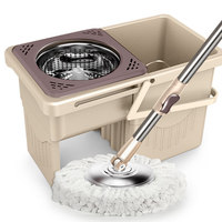 Drawer type rotary mop home double drive good God drag lazy hand free wash folding mop bucket