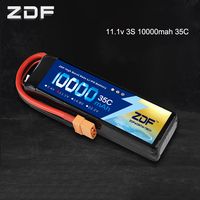 ZDF RC Lipo Battery 10000mAh 2S 3S 4S 5S 6S 7.4V 11.1V 14.8V 18.5V 22.2V 35C MAX 70C Drone AKKU For RC Helicopter Airplane