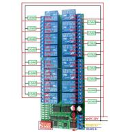 16CH 12V Modbus RTU RS485 Relay Module Switch Board for PLC Lamp LED Automated industry Smart Home,Camera Security Monitoring