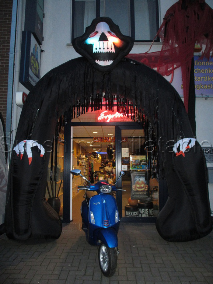 airblown halloween inflatable decoration inflatable halloween arch with grim reaper for outdoor use - Outdoor Inflatable Halloween Decorations