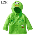 LZH Animal Boys Hooded Jacket Coat Kids Cartoon Waterproof Raincoat Coat Jacket For Girls Windbreaker Jacket Children's Clothes