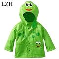 LZH Animal Boys Hooded Jacket Coat Kids Cartoon Waterproof Raincoat Coat Jacket For Girls Windbreaker Jacket Children's Clothes