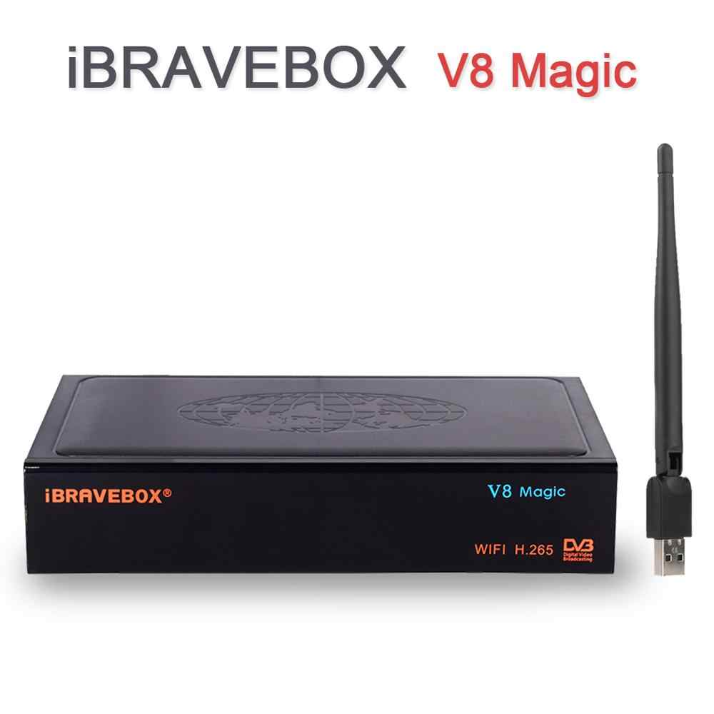 iBRAVEBOX V8 Magic Box Digital Satellite Receiver TV Tuner 1080P HD  Satellite Decoder + One Year Cccam +USB WiFi Support IPTV
