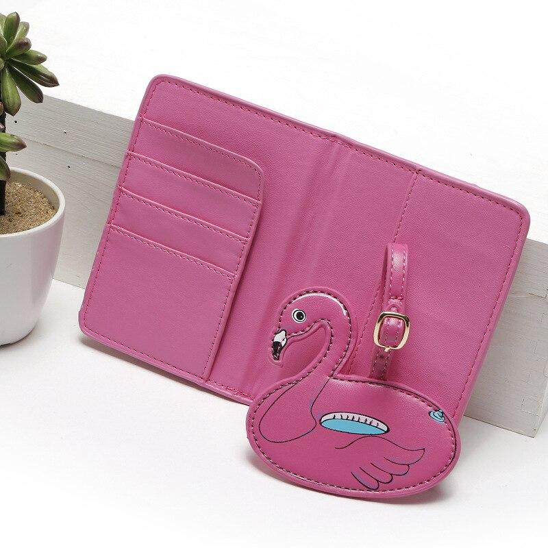 2017 New Hot Flamingos Animal Printed Passport Cover women passport holder card case for travel passport cover bag