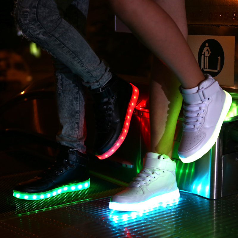 Aliexpress.com : Buy 45 Size Colorful LED Light Shoes Luminous ...
