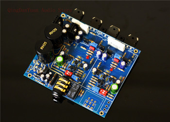 QHA4 Audio HIFI Class A FET Transistor discrete component Headphone Amplifier Assembled board assembled 1200w powerful amplifier board mono hifi audio amp board with heatsink