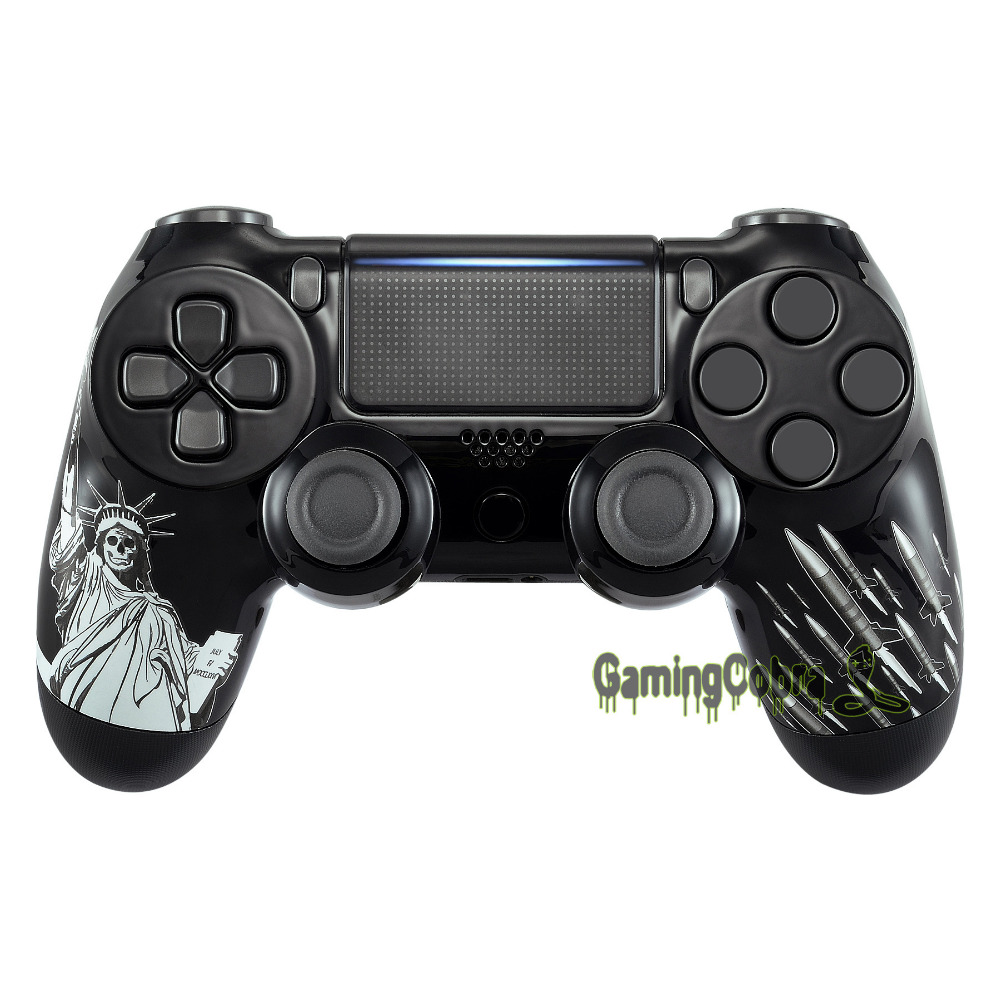 Freedom and Peace Hydro Dipped Front Housing Shell for PS4 Slim Pro Controller JDM-040 JDM-050 JDM-055 - SP4FT20