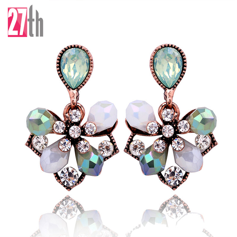 1 Pair Gorgeous Elegant Flower Petals Stud Earrings ...
