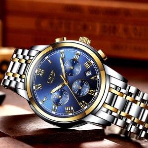Image 4 - 2018 Nieuwe Horloges Mannen Luxe Merk LUIK Chronograph Mannen Sport Horloges Waterdichte Volledige Steel Quartz Horloge Relogio Masculino