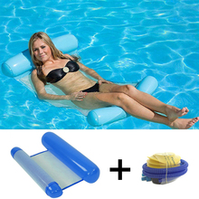 Summer new inflatable floating bed swimming pool reclining swimming ring water hammock adult children leisure swimming big size inflatable swimming pool kit tool floating plate outdoor toy sleeping pad backrest enjoy novelty item adult children