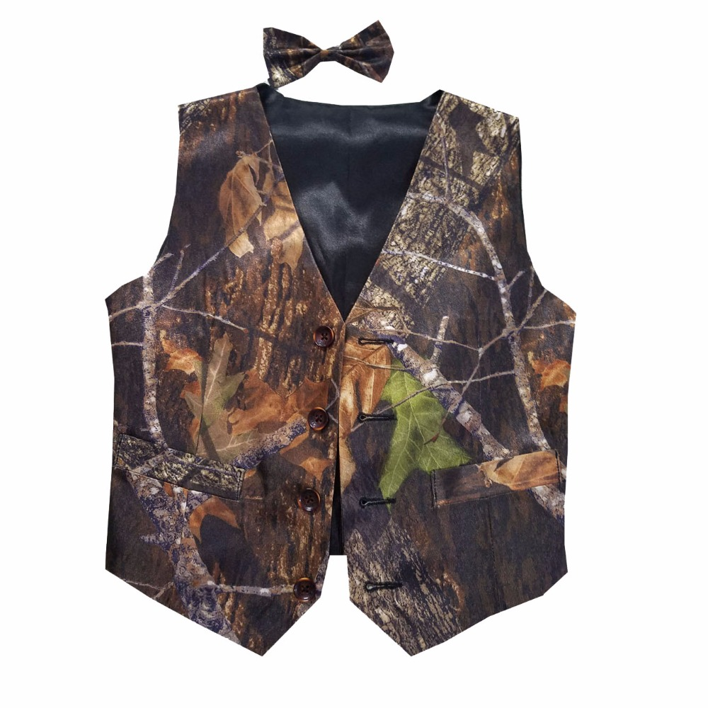 boy camouflage vests kids camo formal vest for wedding custom make free shippingchina