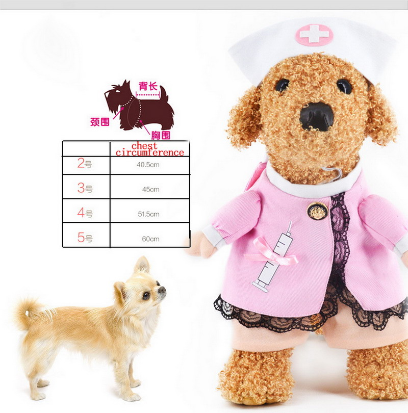 2016 NEW Creative Pet Dog Puppy Costume Clothes Sexy Nurse Uniform with Hat Attire 4Sizes-in Dog Coats u0026 Jackets from Home u0026 Garden on Aliexpress.com ...  sc 1 st  AliExpress.com & 2016 NEW Creative Pet Dog Puppy Costume Clothes Sexy Nurse Uniform ...
