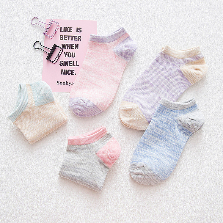 New Arrival short socks women harajuku Sock Casual Cute Ankle Low Cut Cotton Socks invisible chaussette femme 5pieces/lot 5