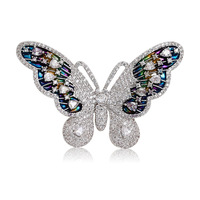 New Korean Style CZ butterfly Pin brooch for female elegant costume scares buckle ornament jewelry accessories