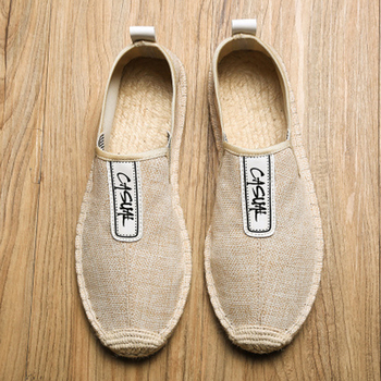 Summer Breathable Footwear Men's Flat Canvas Shoes Hemp Lazy Flats For Men Cheap Moccasins Male Loafers Driving Shoes Q58 цена 2017