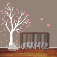 Free shipping NEW 180 x130 cm Large Tree and birds Vinyl wall decal stickers for Baby Nursery room kids wall art decoration