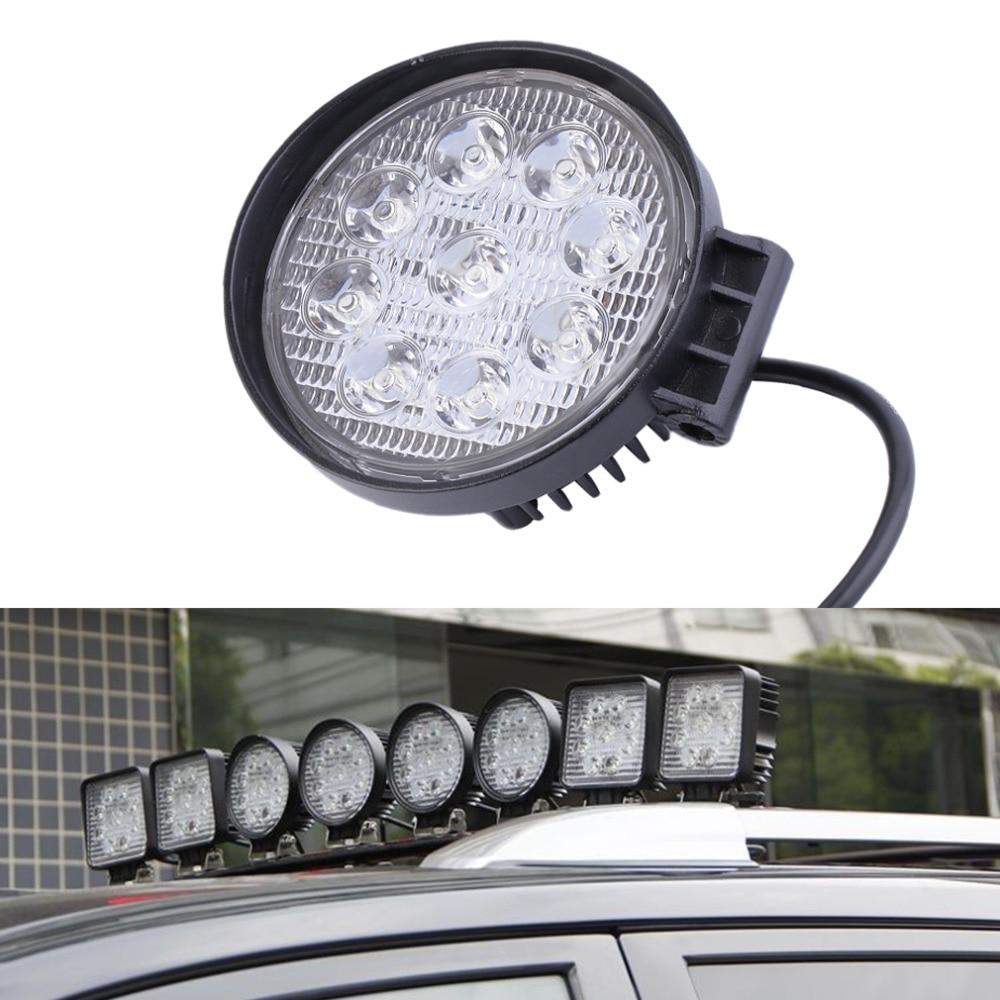 4 inch 27W led work light lamp offroad Spot Flood 12V led tractor work lights for Trucks off road 4X4 car ATV boat fog driving