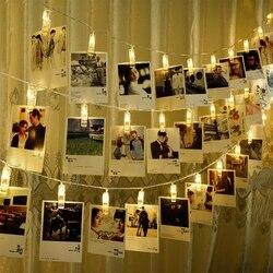 Luzes da corda da foto do diodo emissor de luz, 20 clipes da foto do diodo emissor de luz a pilhas decoração da festa em casa, foto de suspensão