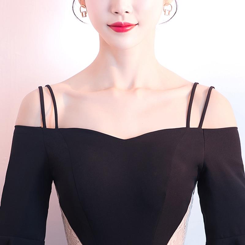 Robes Robe Longue Soirées Cérémonie A59 Lacet Pour Up Parti Spaghetti Gala 2018 Courroie De Nouvelles Femmes Date Noir Proms Élégant Gratuating 0xT8w