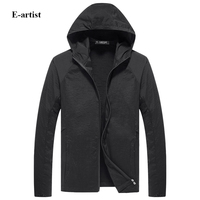 Men S Hooded Lightweight Zipper Jackets Coats For Spring Autumn Summer Male Slim Fit Casual Tops