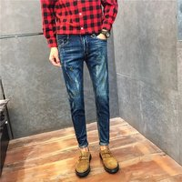 male jeans slim pants  men hot sale Autumn and winter retro young man pants  western design GT887