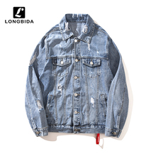 2019 New Jeans Jackets Men Loose Casual Denim Jacket and Coats High Street Clothing