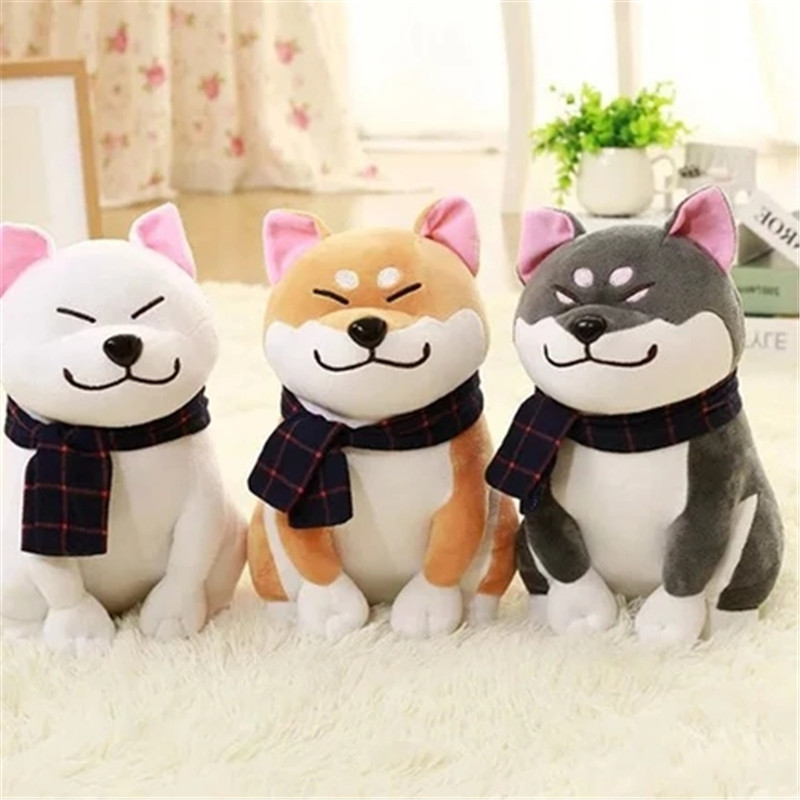 25cm Plush Dog Japanese Doll Toy Doge Dog Plush Lovely Chibi Akita Dog Child Birthday Christmas present new plush gray akita dog toy lovely cute fat sitting akita dog doll gift about 45cm