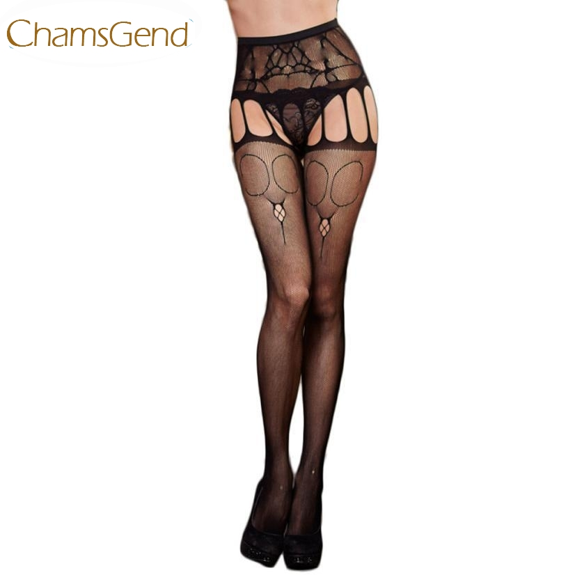 Chamsgend Newly Design Black Sexy Stockings Lace Mesh Garter Belt Tights Aug20 Drop Shipping