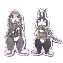 12 zodiac rabbit dog soldiers escape the BIG Military Army Tactical Morale Embroidery Patches For Clothes Clothing Emblem Badges