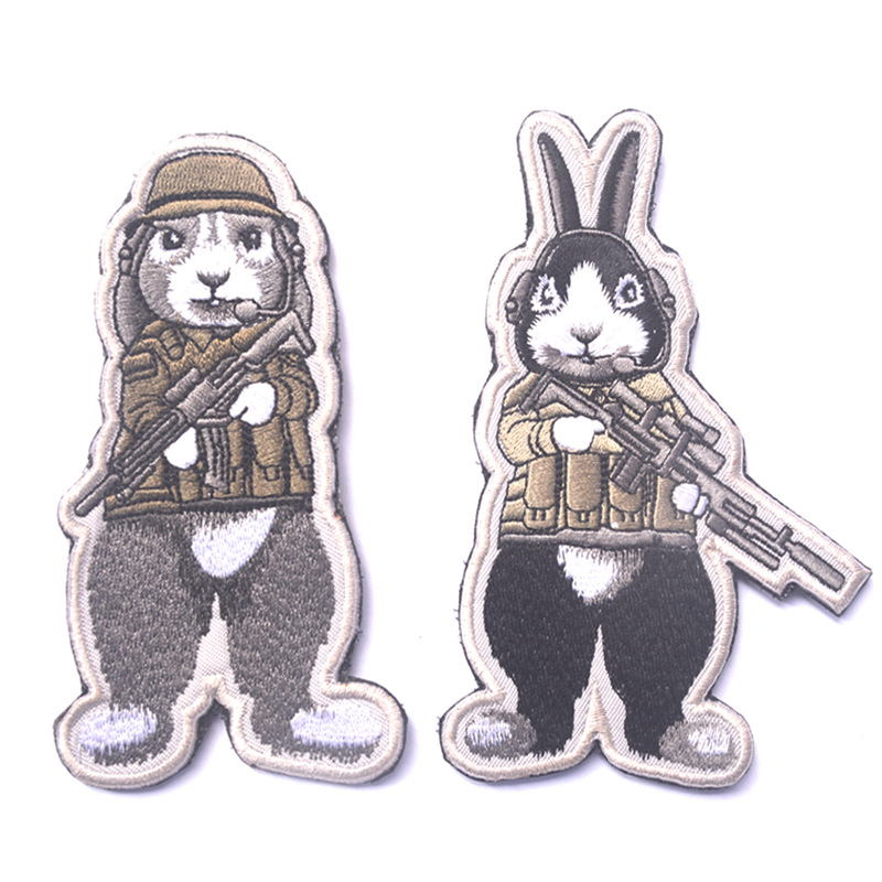12 zodiac rabbit dog soldiers escape the BIG tactical military patches badges for clothes clothing HOOK/LOOP