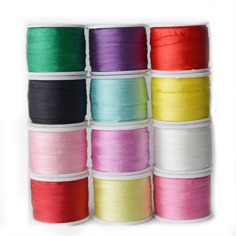 100 Pure Silk Embroidery Taffet Ribbon Roll 4mm Width 10meter per Color Multiple Colors