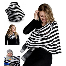 Nursing Breastfeeding Cover Scarf – Baby Car Seat Canopy, Shopping Cart, Stroller, Carseat Covers for Girls and Boys – Best Mult