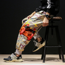 Fashion Casual Men s Overalls Spring And Autumn New M 5XL Hip Hop Camouflage Loose Beam