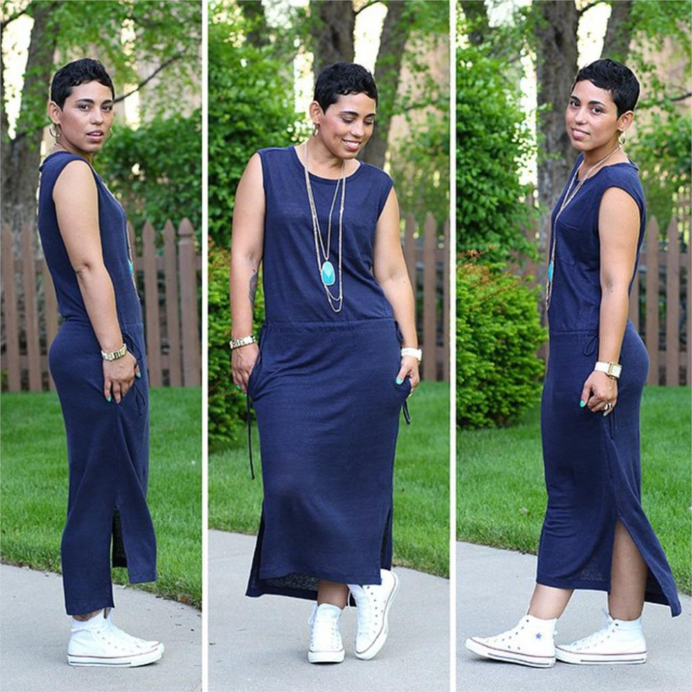Mimi g maxi dress gauze