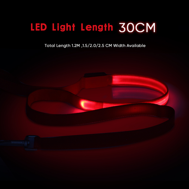 LED Dog Leash at Night Luminous Anti-Lost Leash For Dogs Puppies LED Glowing Leashes For Cats Kitten Dog Supplies Pet Products 2
