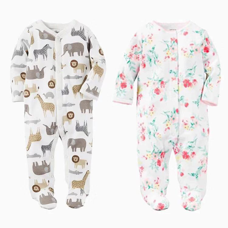 Baby Boys Girls Blanket Sleepers Newborn Babies Sleepwear Infant Long Sleeve <font><b>0</b></font> <font><b>3</b></font> <font><b>6</b></font> 9 12 Months Pajamas image