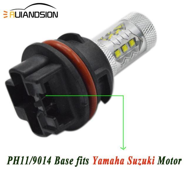 Фото фонарь для мотоцикла ph11 12 в 24 в 80 вт колба светодиодный