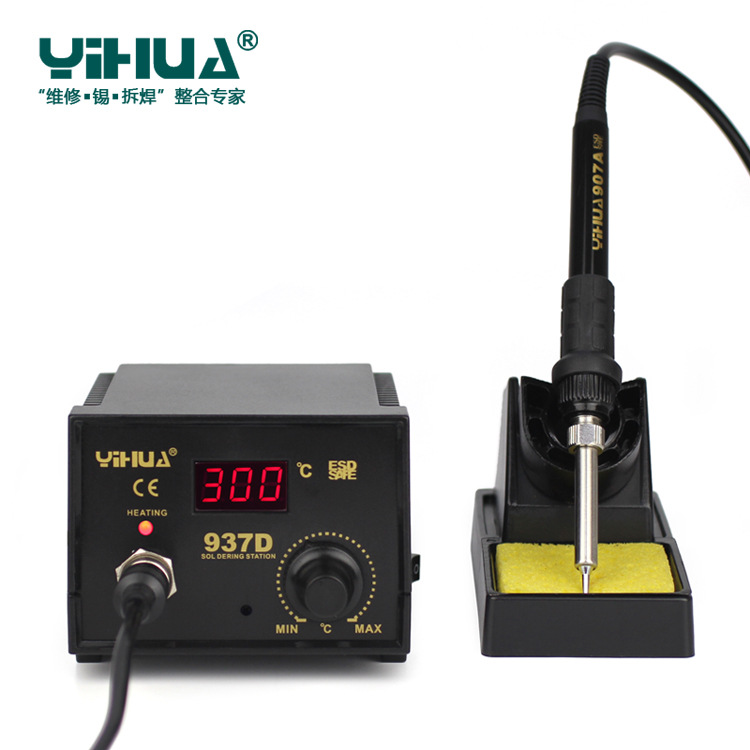 Tools : Newest 220V 110V EU US 50W Temperature Control ESD Digital Soldering Station   Rework Stations YIHUA 937D with many gift