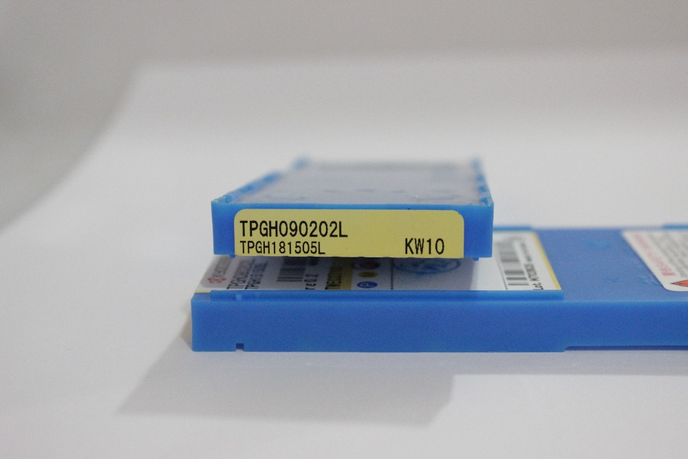 Crab Tools KYOCERA 10PC TPGH090202L KW10/PR930 Metal Turning Lathe Tools Turning Cutter Carbide Insert CNC Tool Tip Machine
