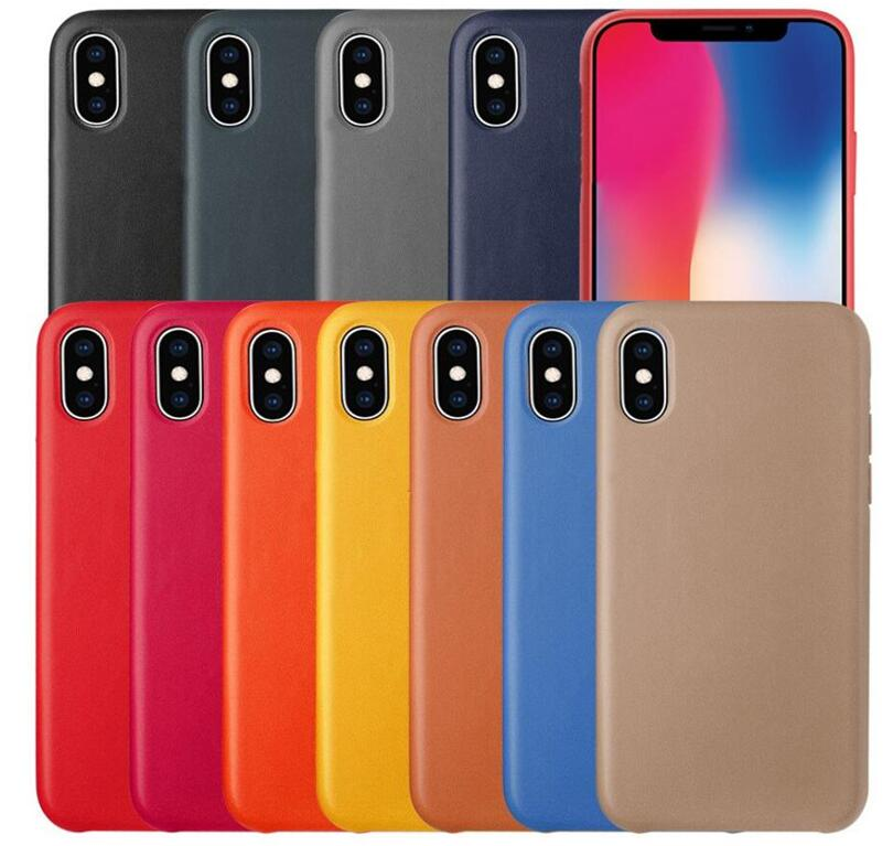 Have Logo Original Official  Case For iPhone Xs MAX XR 7 8 Plus X 5 5s se Luxury PU Leather Case For iPhone 6 6s Plus Back Cover(China)