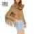 Yikuyiya casaco primavera 2017 turn-down collar manga comprida tassel sólidos brasão camel camurça jaqueta curta fino franja do punk jaqueta estilo