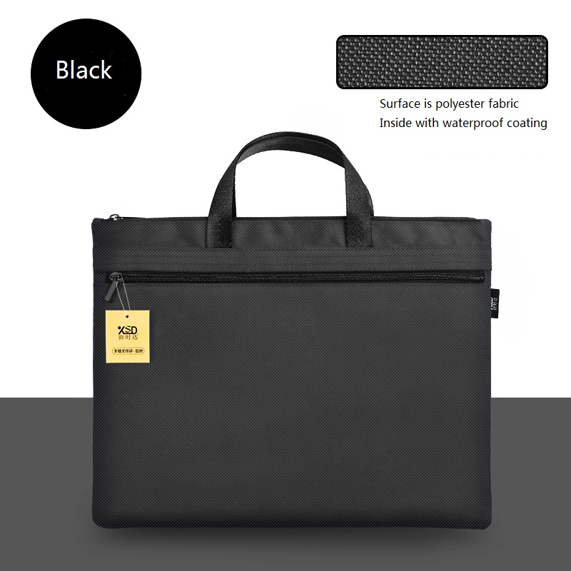 Large A4 Business Travel Document Bag, Waterproof Canvas Office Briefcase Handbag Man, Travel Files Case Bag, Add LOGO