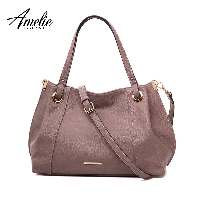 AMELIE GALANTI Autumn and Winter Woman handbag Solid Shoulder Bags The fabric is soft PU Large capacity utility Versatile amelie galanti brand tote handbag