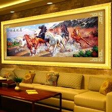155*57 Pferd Bilder Von Kristallen 5d Diy Diamant-malerei Runde Diamant Mosaik Animales Stickerei Kreuzstich Handwerk 1174