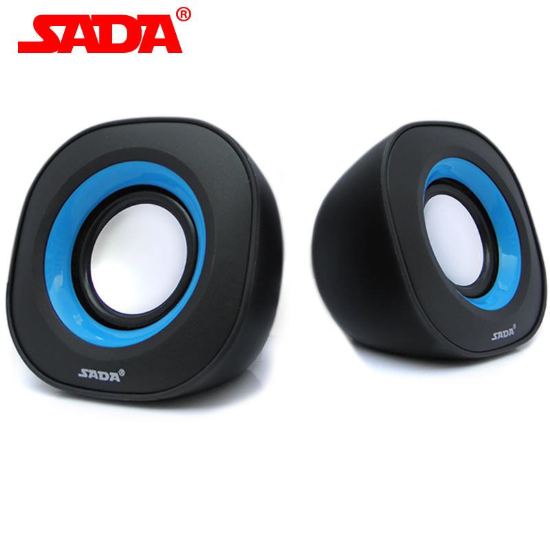 SADA V165 V165A Mini Portable Subwoofer Computer Speaker 3.5mm Speaker USB2.0 Power Plug for Desktop PC Laptop MP3 Cellphone