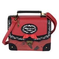 Japanese Musical Note Embroidery Backpack Vintage Lolita England JK Uniform Shoulder Bag School Bags College Girls Handbag