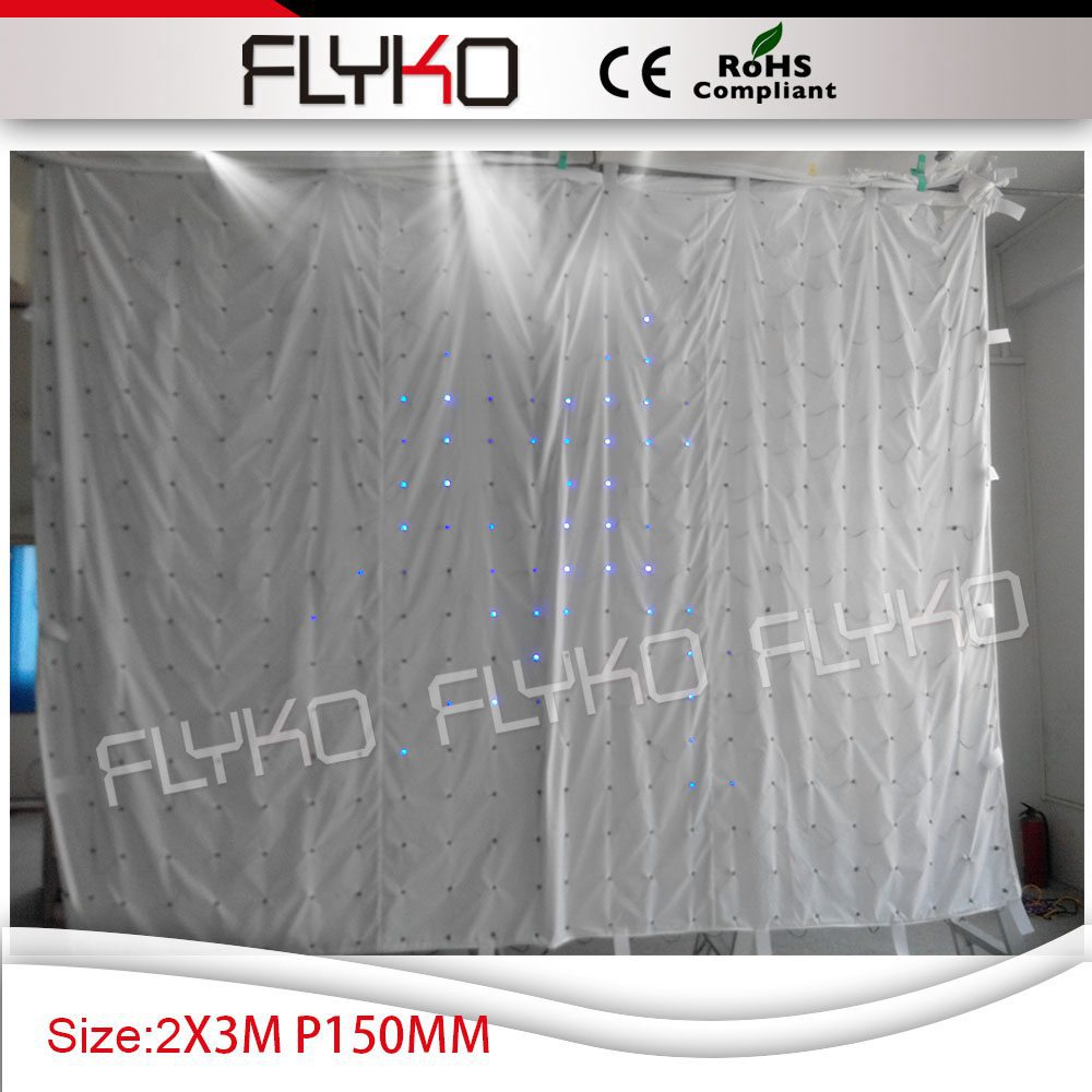Free Shipping P15 2X3M led curtain screen full color led display with computer and DMX controller
