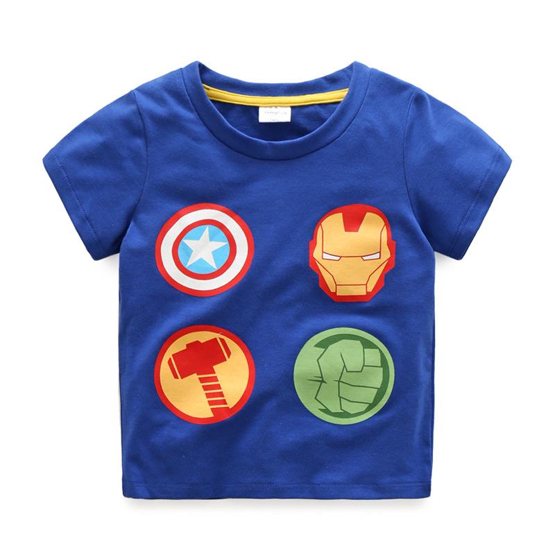 Summer Boys T-Shirts Cotton Kids Top Iron Man Short Sleeve Children Clothes O Neck Captain America Boy T-Shirt 2017 Boy Clothing (2)